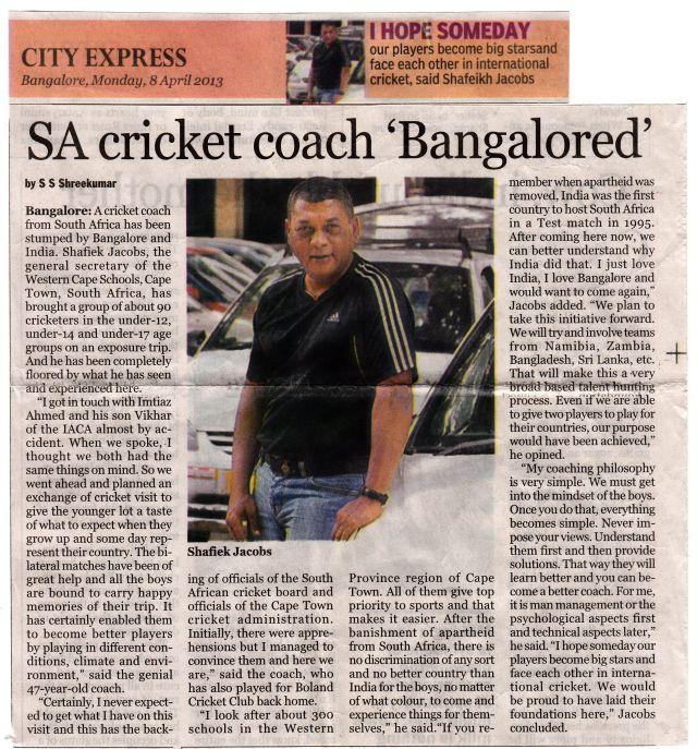 Indian City Express, Monday 8 April 2013